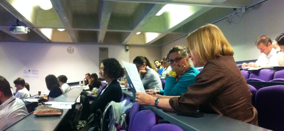 Audience waiting for panel A in Session One: 'Male Discourses of Contraceptions, Pregnancy and Fatherhood'