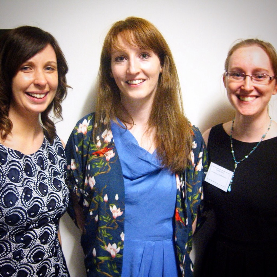 Conference organisers Ciara Meehan and Jennifer Evans with keynote speaker Elaine Farrell of Queen's University, Belfast on Day Two of the Perceptions of Pregnancy Conference