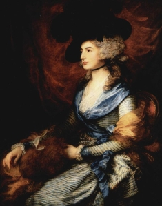 Thomas Gainsborough. Mrs. Sarah Siddons (1785). National Gallery of Art.  Source: Wikimedia Commons